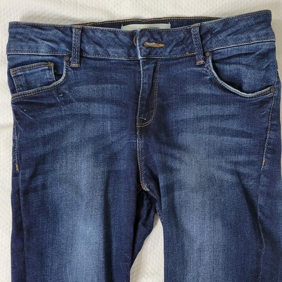 Zara 38 Basic Denim Jeans Straight Leg